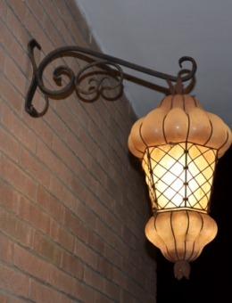 Lanternes vénitiennes artisanale, verre de Murano