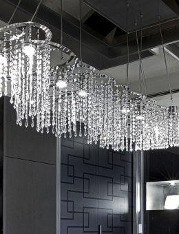 Fontaines de lumière à pampilles de cristal taillé