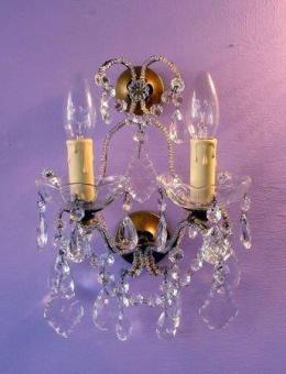 Appliques à pampilles de cristal