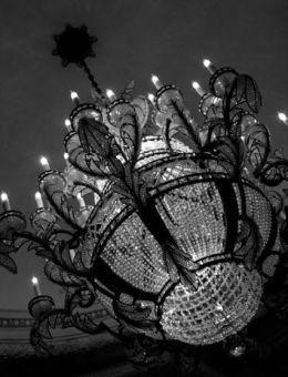 Lustre montgolfière de style Empire et plafonniers