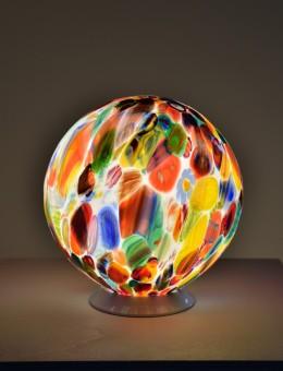 Lampes en verre soufflé de Murano, verre soufflé de Venise