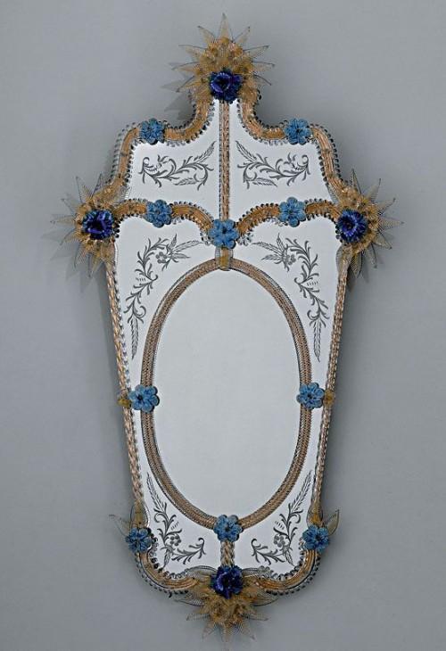 Miroirs v nitiens de murano de fabrication artisanale for Miroir venitien murano
