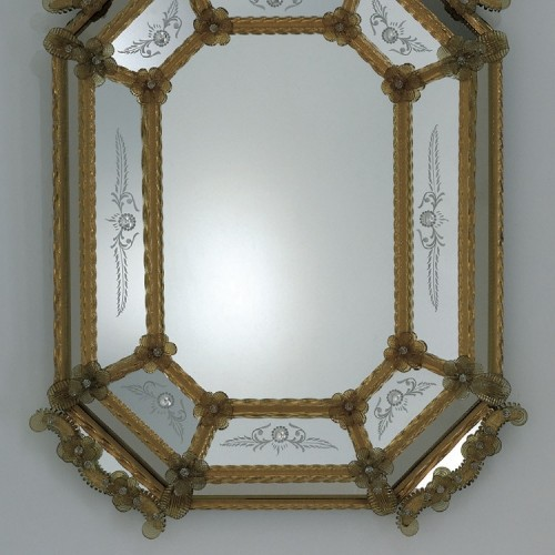 Miroir artisanal en verre de venise luxury chandeliers for Miroir artisanal